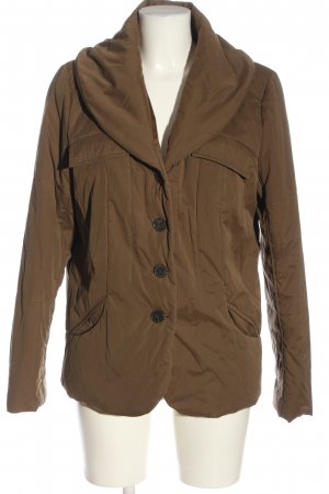 Bernd Berger Winter Jacket bronze-colored striped pattern casual look