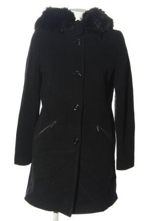 Bernd Berger Wełniany płaszcz czarny W stylu casual