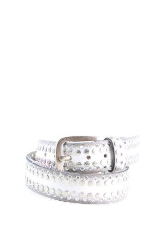 Bernd Götz Cintura di pelle argento-bianco Colore sfumato stile casual