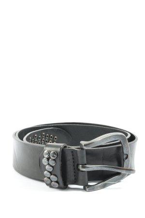 Bernd Götz Cintura di pelle nero stile casual