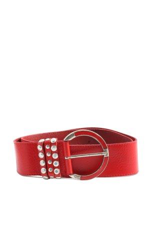 Bernd Götz Leather Belt red business style
