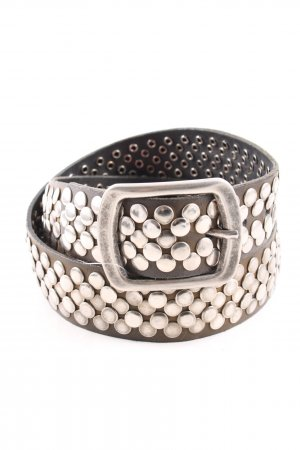 Bernd Götz Studded Belt silver-colored casual look