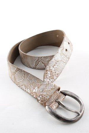 Bernd Götz Waist Belt brown-silver-colored allover print casual look