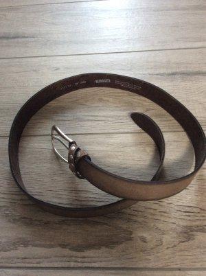 Bernd Götz Leather Belt grey brown