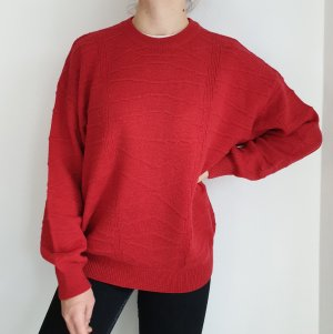 bernhard wagner rot Oversize Pullover Hoodie Pulli Sweater Top Oberteil True Vintage Muster
