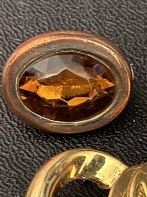Oorclips goud-bruin