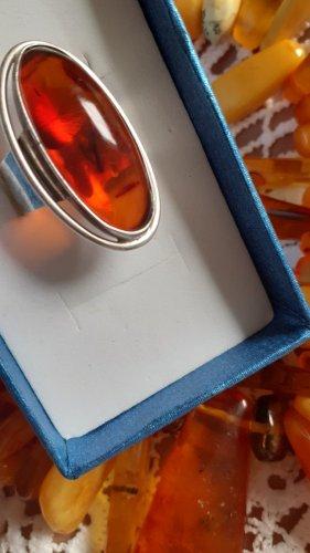 Bernstein Ring mit riesigem echten Stein Gr. 19