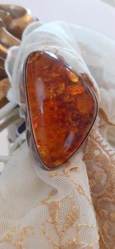 Bague en argent brun-orange foncé