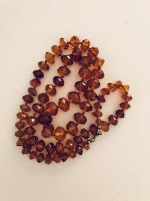Bernsteinkette mit geschliffenen Perlen