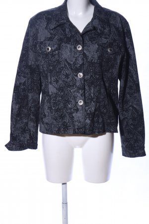 Berri Sport Couture Kurzjacke schwarz-weiß grafisches Muster Casual-Look