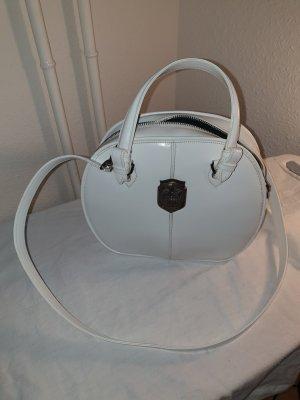 Crossbody bag white-silver-colored