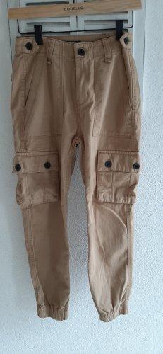 Bershka Cargo Pants grey brown
