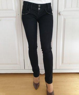 Bershka Tube jeans zwart
