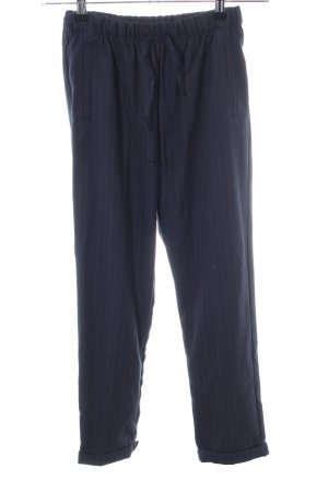 Bershka 7/8-Hose blau Streifenmuster Business-Look