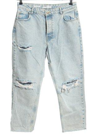 Bershka 7/8 Jeans blau Casual-Look