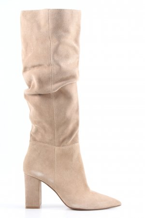 Bershka Heel Boots natural white casual look