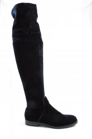 Bershka Absatz Stiefel blau Casual-Look