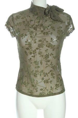Bershka Sleeveless Blouse brown-green allover print elegant