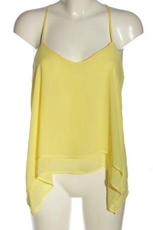 Bershka ärmellose Bluse blassgelb Casual-Look