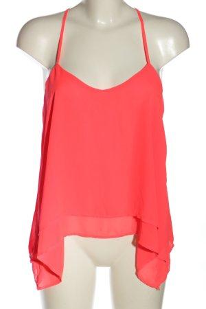 Bershka ärmellose Bluse pink Casual-Look