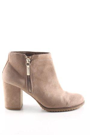 Bershka Ankle Boots wollweiß Casual-Look