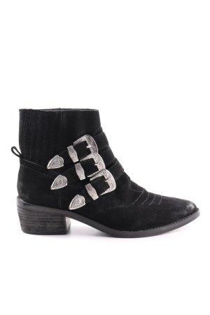 Bershka Ankle Boots schwarz Casual-Look
