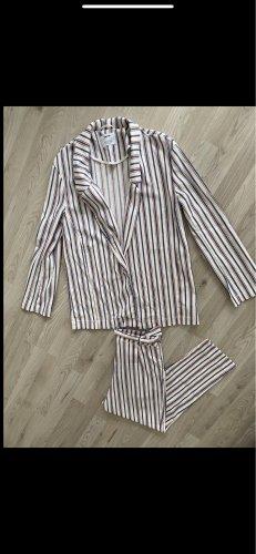 Bershka Anzug 2 Teiler gestreift rot blau weiß