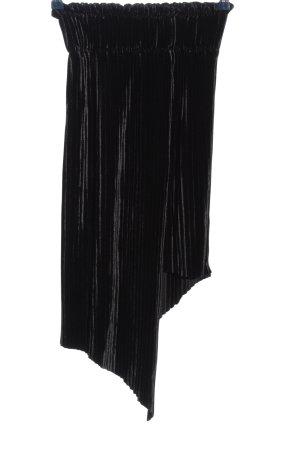 Bershka Asymmetry Skirt black striped pattern casual look