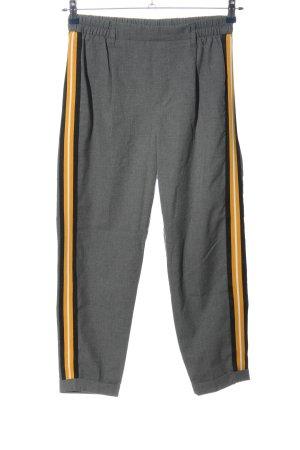Bershka Baggy Pants hellgrau-blassgelb Streifenmuster Casual-Look