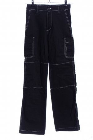 Bershka Baggy Pants schwarz Casual-Look