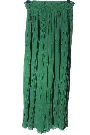 Bershka Luźne spodnie zielony W stylu casual
