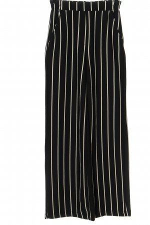 Bershka Pantalón abombado negro-blanco estampado a rayas look casual