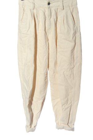 Bershka Jeans baggy crème style décontracté