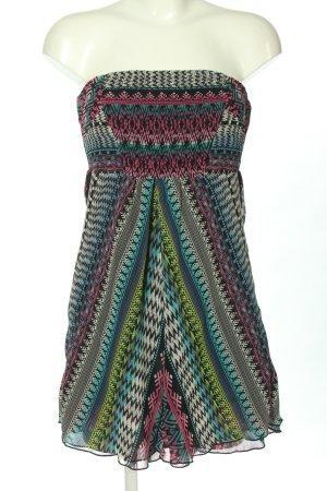 Bershka Bandeau Dress abstract pattern casual look