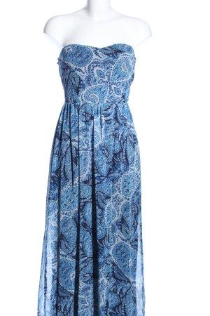 Bershka Abito a fascia blu-bianco motivo astratto stile casual