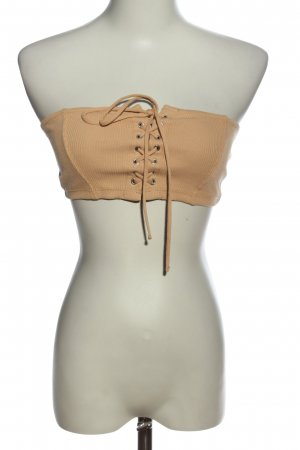 Bershka Top z dekoltem typu bandeau nude W stylu casual