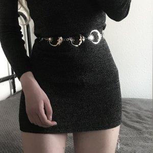 Bershka Mini Dress black-anthracite