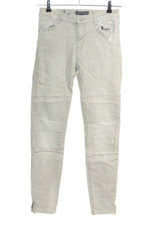 Bershka Jeans de moto gris clair style décontracté