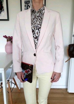 Bershka Blazer 34 36 XS S rosa knit Peplum Jacke Cardigan Mantel Top Neu