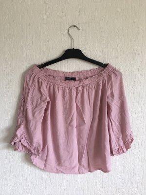 Bershka Carmen blouse rosé