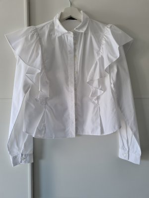 Bershka Ruche blouse wit