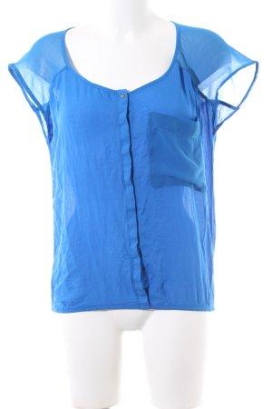 Bershka Blusentop blau Casual-Look