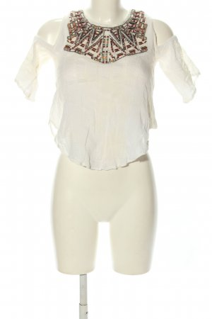 Bershka Blouse topje wit casual uitstraling