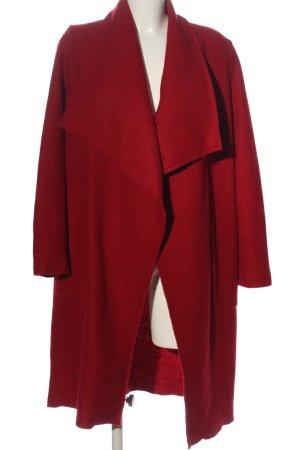 Bershka bodenlanger Mantel rot Casual-Look