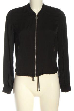 Bershka Bomber Jacket black casual look