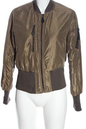 Bershka Blouson aviateur brun style décontracté