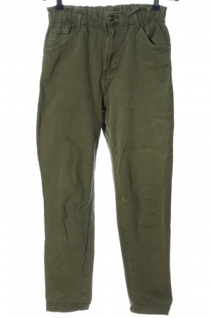 Bershka Spodnie typu boyfriend khaki W stylu casual
