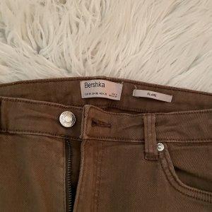 Bershka Pantalon pattes d'éléphant brun
