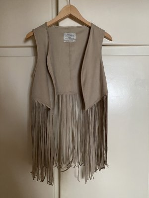 Bershka Fringed Vest multicolored polyester