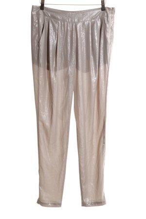 Bershka Bundfaltenhose wollweiß extravaganter Stil